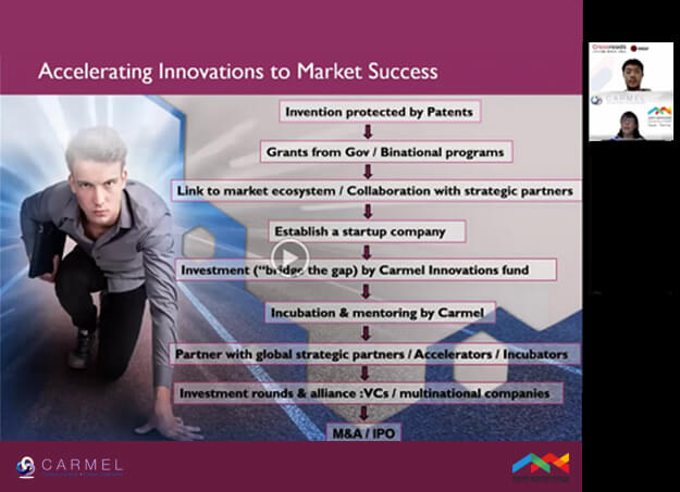 Elka Nir, CEO of Carmel Ltd, spoke at a recent webinar with Taiwan
